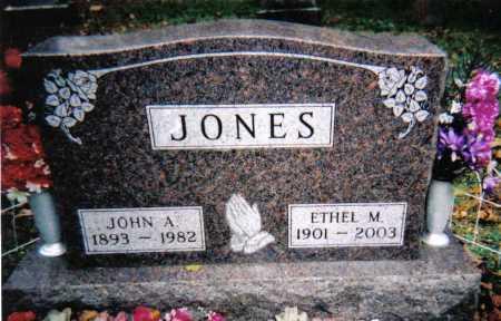 JONES, JOHN A. - Adams County, Ohio | JOHN A. JONES - Ohio Gravestone Photos