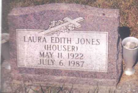 HOUSER JONES, LAURA EDITH - Adams County, Ohio | LAURA EDITH HOUSER JONES - Ohio Gravestone Photos