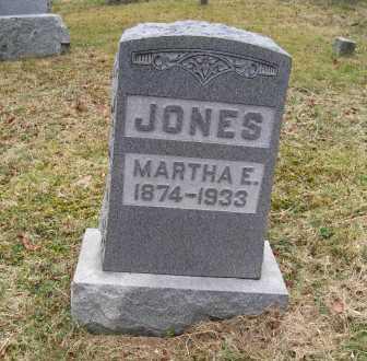JONES, MARTHA E. - Adams County, Ohio | MARTHA E. JONES - Ohio Gravestone Photos