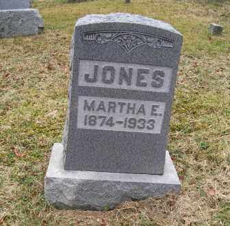 JONES, MARTHA E. - Adams County, Ohio | MARTHA E. JONES - Ohio Gravestone Photos