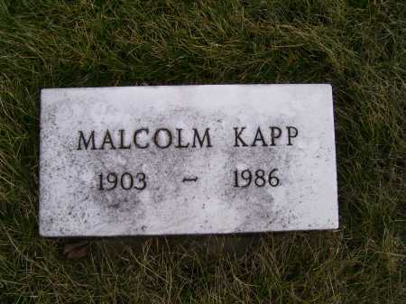 KAPP, MALCOLM - Adams County, Ohio | MALCOLM KAPP - Ohio Gravestone Photos