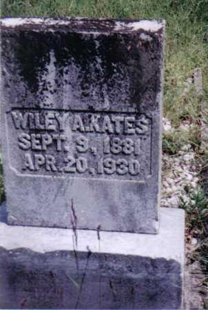 KATES, WILEY A. - Adams County, Ohio | WILEY A. KATES - Ohio Gravestone Photos