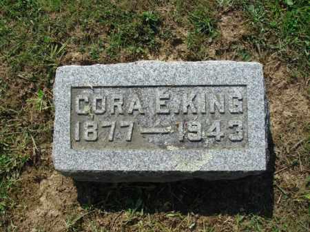 KING, CORA E - Adams County, Ohio | CORA E KING - Ohio Gravestone Photos