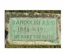KING, RANDOLPH - Adams County, Ohio | RANDOLPH KING - Ohio Gravestone Photos