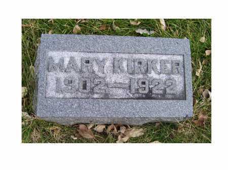 KIRKER, MARY - Adams County, Ohio | MARY KIRKER - Ohio Gravestone Photos