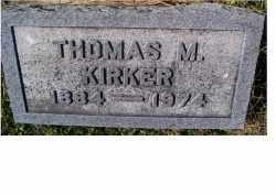 KIRKER, THOMAS M. - Adams County, Ohio | THOMAS M. KIRKER - Ohio Gravestone Photos