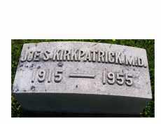 KIRKPATRICK, JOE S. - Adams County, Ohio | JOE S. KIRKPATRICK - Ohio Gravestone Photos