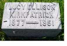 ELLISON KIRKPATRICK, LUCY - Adams County, Ohio   LUCY ELLISON KIRKPATRICK - Ohio Gravestone Photos