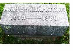 KIRKPATRICK, MAUDE P. - Adams County, Ohio   MAUDE P. KIRKPATRICK - Ohio Gravestone Photos