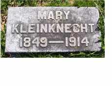 KLEINKNECHT, MARY - Adams County, Ohio | MARY KLEINKNECHT - Ohio Gravestone Photos