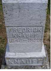 KNAUFF, FREDRICK - Adams County, Ohio   FREDRICK KNAUFF - Ohio Gravestone Photos