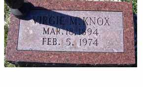 KNOX, VIRGIE M. - Adams County, Ohio   VIRGIE M. KNOX - Ohio Gravestone Photos