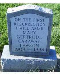CARAWAY LAWSON, GERTRUDE - Adams County, Ohio | GERTRUDE CARAWAY LAWSON - Ohio Gravestone Photos