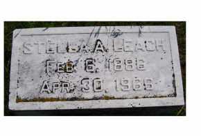 LEACH, STELLA A. - Adams County, Ohio | STELLA A. LEACH - Ohio Gravestone Photos