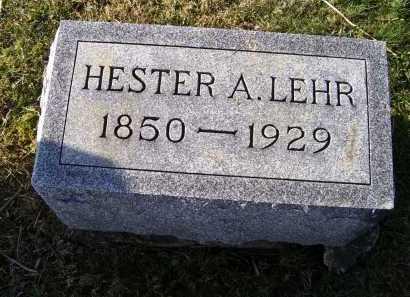 LEHR, HESTER A. - Adams County, Ohio   HESTER A. LEHR - Ohio Gravestone Photos
