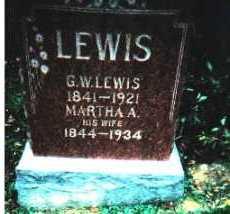 LEWIS, G.W. - Adams County, Ohio | G.W. LEWIS - Ohio Gravestone Photos