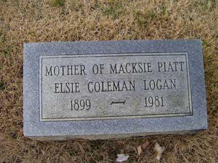 COLEMAN LOGAN, ELSIE - Adams County, Ohio | ELSIE COLEMAN LOGAN - Ohio Gravestone Photos