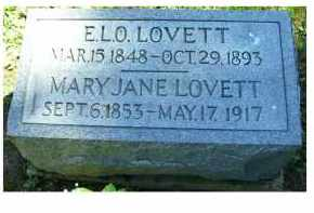LOVETT, MARY JANE - Adams County, Ohio | MARY JANE LOVETT - Ohio Gravestone Photos