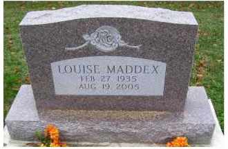 MADDEX, LOUISE - Adams County, Ohio | LOUISE MADDEX - Ohio Gravestone Photos