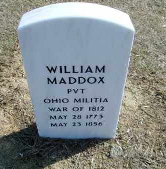 MADDOX, WILLIAM - Adams County, Ohio | WILLIAM MADDOX - Ohio Gravestone Photos