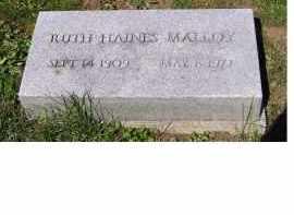 HAINES MALLOY, RUTH - Adams County, Ohio | RUTH HAINES MALLOY - Ohio Gravestone Photos