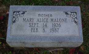 MALONE, MARY ALICE - Adams County, Ohio   MARY ALICE MALONE - Ohio Gravestone Photos