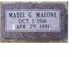 MALONE, MABEL G. - Adams County, Ohio | MABEL G. MALONE - Ohio Gravestone Photos