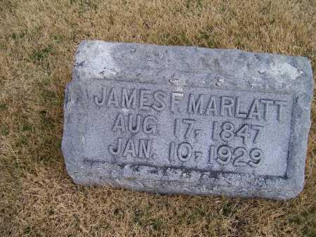 MARLATT, JAMES F. - Adams County, Ohio | JAMES F. MARLATT - Ohio Gravestone Photos