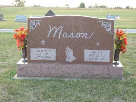MASON, FOREST N. - Adams County, Ohio | FOREST N. MASON - Ohio Gravestone Photos