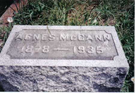 MCCANN, AGNES - Adams County, Ohio | AGNES MCCANN - Ohio Gravestone Photos