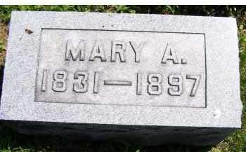 MCCANN, MARY A. - Adams County, Ohio | MARY A. MCCANN - Ohio Gravestone Photos