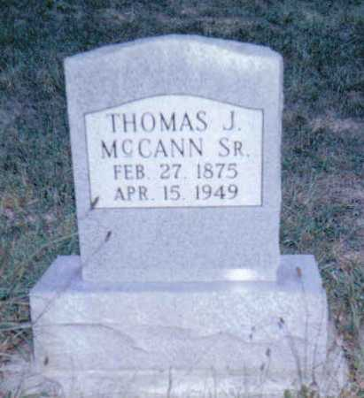 MCCANN, THOMAS J. SR. - Adams County, Ohio | THOMAS J. SR. MCCANN - Ohio Gravestone Photos