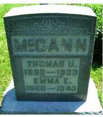 MCCANN, THOMAS U. - Adams County, Ohio | THOMAS U. MCCANN - Ohio Gravestone Photos
