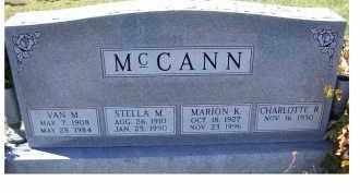 MCCANN, MARION K. - Adams County, Ohio | MARION K. MCCANN - Ohio Gravestone Photos