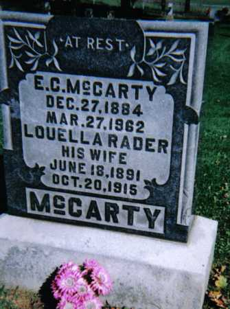 RADER MCCARTY, LOUELLA A. - Adams County, Ohio | LOUELLA A. RADER MCCARTY - Ohio Gravestone Photos