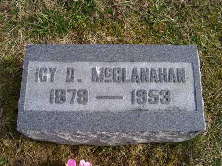 MCCLANAHAN, ICY D. - Adams County, Ohio   ICY D. MCCLANAHAN - Ohio Gravestone Photos