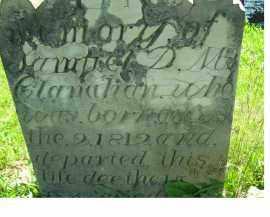 MCCLANAHAN, SAMUEL D. M. - Adams County, Ohio   SAMUEL D. M. MCCLANAHAN - Ohio Gravestone Photos