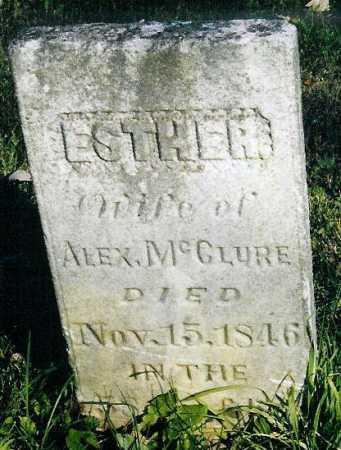 MCCLURE, ESTHER - Adams County, Ohio | ESTHER MCCLURE - Ohio Gravestone Photos