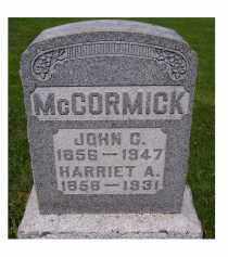MCCORMICK, HARRIET A. - Adams County, Ohio | HARRIET A. MCCORMICK - Ohio Gravestone Photos
