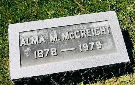 MCCLURE MCCREIGHT, ALMA - Adams County, Ohio | ALMA MCCLURE MCCREIGHT - Ohio Gravestone Photos