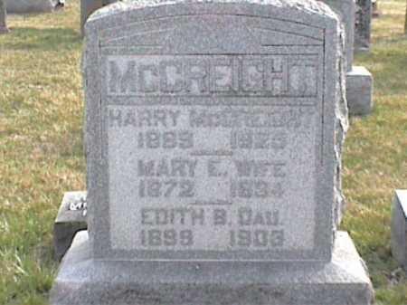 MCCREIGHT, MARY E. - Adams County, Ohio | MARY E. MCCREIGHT - Ohio Gravestone Photos