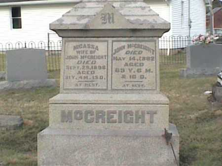 MCCREIGHT, NICASSA - Adams County, Ohio | NICASSA MCCREIGHT - Ohio Gravestone Photos
