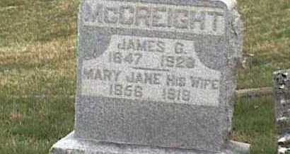 MCCREIGHT, MARY JANE - Adams County, Ohio | MARY JANE MCCREIGHT - Ohio Gravestone Photos