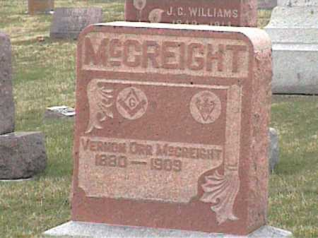 MCCREIGHT, VERNON ORR - Adams County, Ohio | VERNON ORR MCCREIGHT - Ohio Gravestone Photos