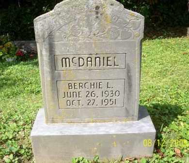 MCDANIEL, BERCHIE L - Adams County, Ohio | BERCHIE L MCDANIEL - Ohio Gravestone Photos