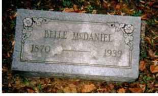 MCDANIEL, BELLE - Adams County, Ohio   BELLE MCDANIEL - Ohio Gravestone Photos