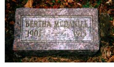MCDANIEL, BERTHA - Adams County, Ohio | BERTHA MCDANIEL - Ohio Gravestone Photos