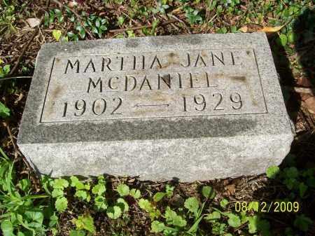 MCDANIEL, MARTHA JANE - Adams County, Ohio | MARTHA JANE MCDANIEL - Ohio Gravestone Photos