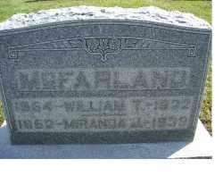 MCFARLAND, MIRANDA J. - Adams County, Ohio | MIRANDA J. MCFARLAND - Ohio Gravestone Photos