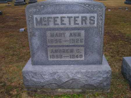 MCFEETERS, MARY ANN - Adams County, Ohio | MARY ANN MCFEETERS - Ohio Gravestone Photos